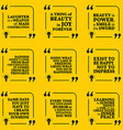 Set of motivational quotes about optimism beauty vector image vector image