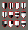 Set of shields black and white vector image vector image