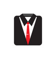suit icon graphic design template vector image vector image