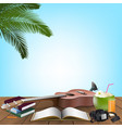 summer day holiday vacation vector image vector image