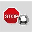 transport bus stop road sign design vector image vector image