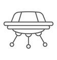 ufo thin line icon space spacecraft spaceship vector image