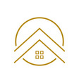 upscale housing outline symbol logo design vector image vector image