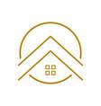 upscale housing outline symbol logo design vector image