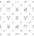 victory icons pattern seamless white background vector image vector image