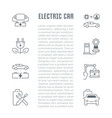 website banner and landing page electric car vector image vector image
