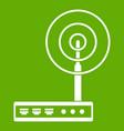 wifi router icon green vector image vector image
