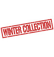 winter collection stamp vector image vector image