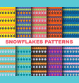 Winter pattern set christmas snowflakes on