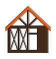 wooden house structure icon vector image vector image