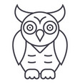 owlwisdom line icon sign on vector image