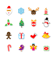 039 Christmas Sticker Set 001 vector image