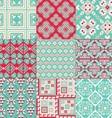 9 retro seamless ornaments vector image vector image