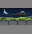 a nature mountain landscape vector image vector image
