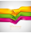 abstract background with multicolored ribbons vector image vector image