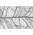 abstract black and white pattern with leaf vector image vector image