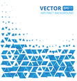 Abstract blue triangle background vector image vector image
