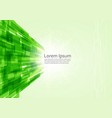 abstract green technology lines background vector image vector image
