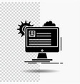 account profile report edit update glyph icon on vector image vector image