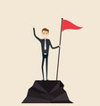 achievementsuccess and leadership conceptclimber vector image