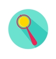 baby rattle flat icon with long shadow vector image