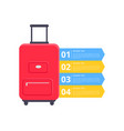 baggage packing instructions vector image vector image