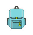 bagpack cartoon icon isolated on a white vector image vector image