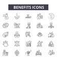 benefits line icons for web and mobile design