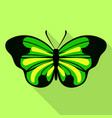 big green butterfly icon flat style vector image vector image