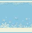 blue winter christmas background with glittering vector image vector image