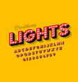 broadway lights retro style light bulb font vector image