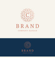 c brand logo vector image