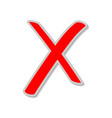 cancel no erase reject remove clear button vector image