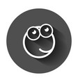 cartoon face icon in flat style smiley face with vector image vector image