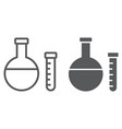 chemistry line and glyph icon school and vector image vector image