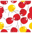 Cherry seamless pattern background vector image vector image