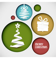 christmas decoration made from white paper stripes vector image vector image