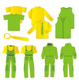 collection of men work clothes vector image