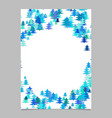 color abstract random seasonal pine tree card vector image vector image
