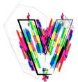 Colorful Font - Letter v vector image vector image