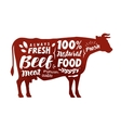 Cow symbol Meat beef vector image vector image