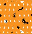 creative seamless pattern halloween concept vector image