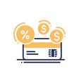 credit - modern line design icon vector image
