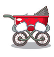 crying baby sitting in a baby stroller cartoon vector image