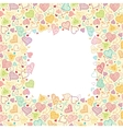 Doodle Hearts Vertical Frame Background Border vector image vector image
