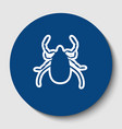 dust mite sign white contour vector image
