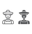 farmer line and glyph icon farming vector image