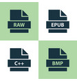 File icons set collection of bitmap shape