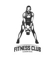 fitness logo design templatedesign for gym and vector image
