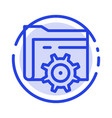 folder setting gear computing blue dotted line vector image vector image
